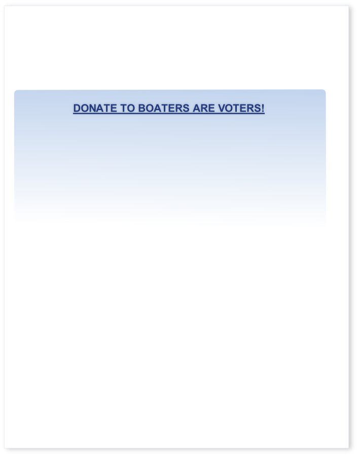 Donate to Boaters Are voters!
